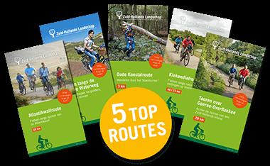 Vijf top routes
