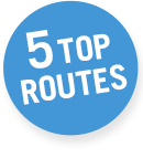 5 top routes